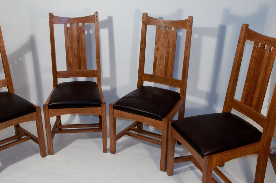 Arts And Crafts Dining Chair Set